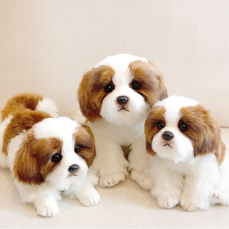 Modèle pour animaux de compagnie simulation chiot jouet poupée mignon chien jouet ornements 2019329