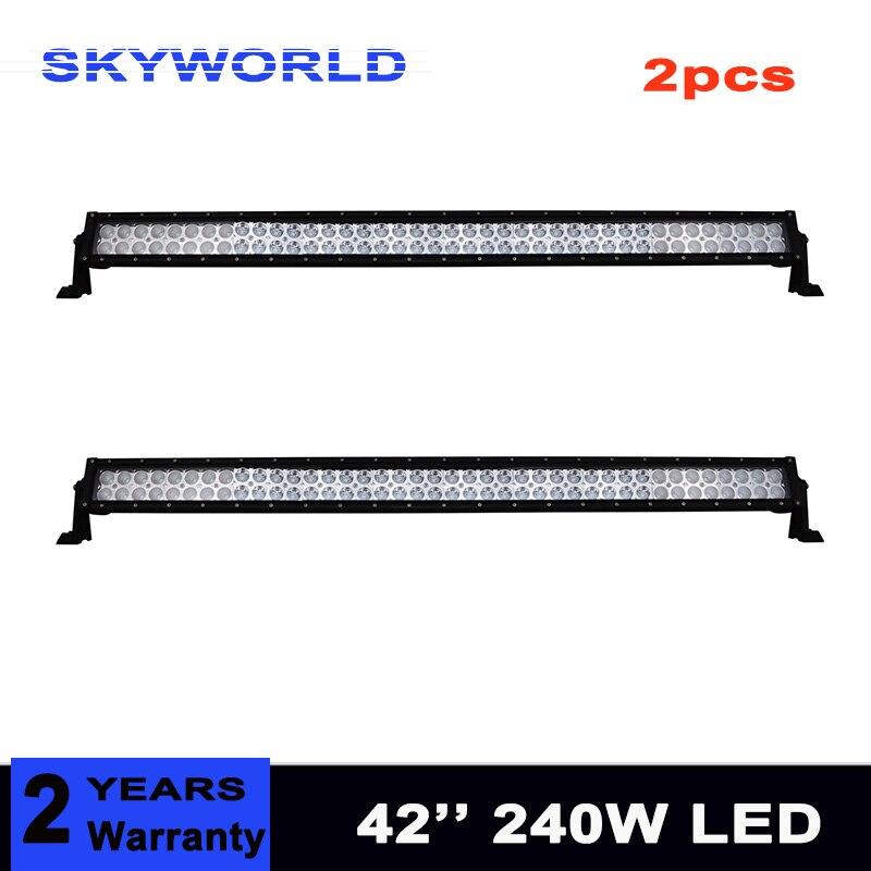 2x240 W barre de lampe LED tout-terrain pour 4WD 4x4 voiture 4WD camion tracteur bateau SUV ATV 24 V faisceau combiné double rangée travail barre lumineuse 12 V 24 V