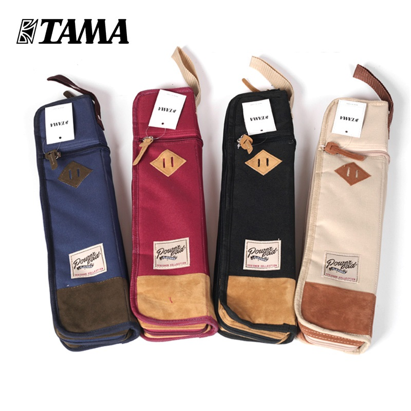 TAMA TSB12 Powerpad Series Drumsticks Bag for Drum Sticks or Mallets Fit 6 Pairs, 4 Colors Available tama tsp6