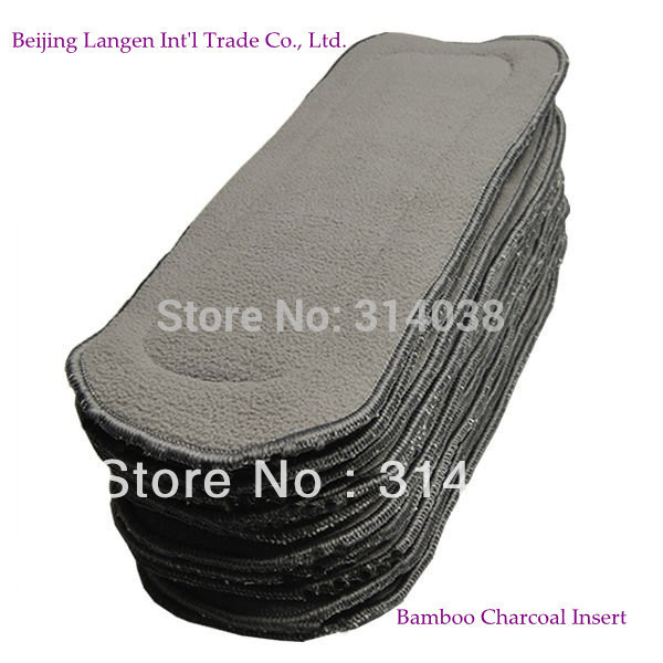 Free Shiping Bamboo Charcoal Insert For Baby Cloth Diaper 20pcs Wholesales