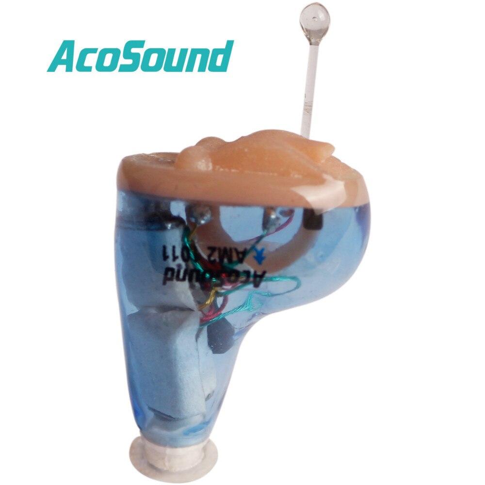 AcoSound медицинское слуховое устройство 6 каналов CIC цифровой мини слуховой аппарат невидимый слуховой аппарат звуковой усилитель