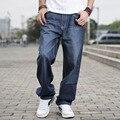 Marca grandes hombres holgados pantalones vaqueros chicos adolescentes hip hop jeans larga floja patineta Relajado Fit Jeans Para Hombre Pantalones de Harén Más El Tamaño 40 42 44 46