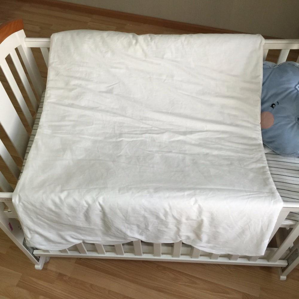 Muslin boom 130X90 cm Pasgeboren Baby Deken 100% Katoen Wit - Beddegoed - Foto 6