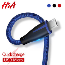 H&A Fashion Fast Charge Micro USB Cable For Samsung Xiaomi R