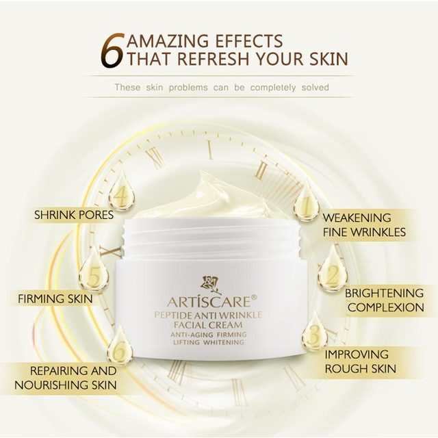 ARTISCARE Peptide Anti Wrinkle Facial Cream Whitening Lifting Day Cream Skin Care Anti Aging Acne Treatment Firming Face Cream