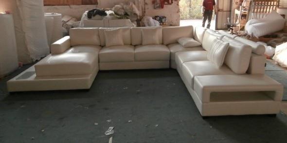 Muebles modernos de cuero sofás sofá en forma de L sofá seccional ...