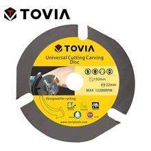 TOVIA 150mm Универсальный Пильный Диск по Дереву для УШМ 6inch  22.22mm по Газобетону Гипсокартону Пластику лезвия лезвие алмазный диск пилы для распиловки древесины реноватор блейд пильный по дереву диски болгарки
