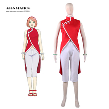 2016 Envío Gratis Boruto Haruno Sakura Naruto the Movie Cheongsam Anime Cosplay Para Halloween