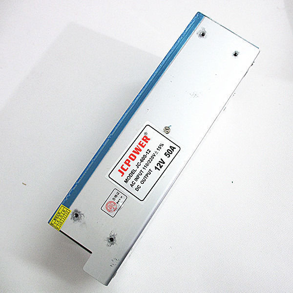 Best quality 12V 50A 600W Switching Power Supply Driver for LED Strip AC 110-240V Input to DC 12V Fast shipping by DHL