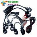 Полный Набор 8 TCS CDP Pro Автомобилей Кабели OBD/OBDII Диагностический Разъем Для Мультибрендовый Автомобили Профессиональные Авто Cable Car Interface
