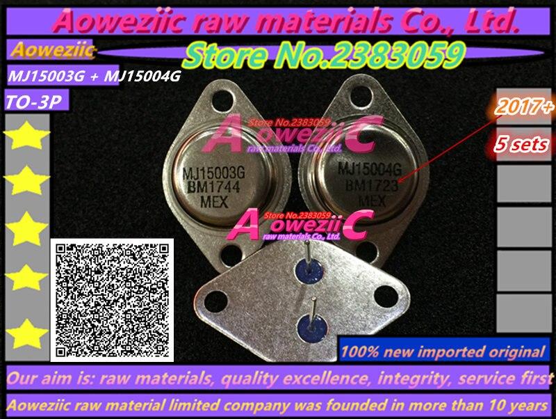 Aoweziic 2017 + 10 pièces = 5 ensembles 100% nouveau importé original MJ15003G MJ15004G MJ15003 MJ15004 son à tube à 3 tube d'étanchéité en or-in Pièces de rechange et accessoires from Electronique    1