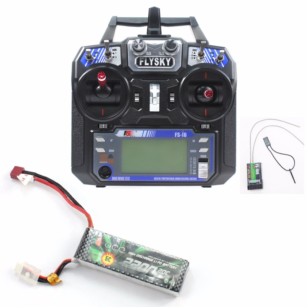 16 in 1 DIY Toys RC FPV Drone Mini Racer Quadcopter Kit 190mm SP Racing F3 Deluxe Flight Controller 2200mah Battery Flysky FS-I6