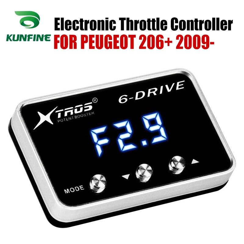سيارة الإلكترونية وحدة تحكم بدواسة الوقود سباق مسرع معزز قوي لبيجو 206 + 2009-2019 ضبط أجزاء
