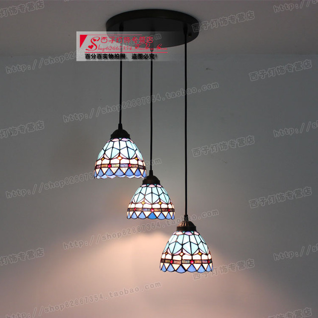 Aliexpress buy mediterranean lighting color glass lamp shade mediterranean lighting color glass lamp shade 3 color glass dining room aloadofball Image collections