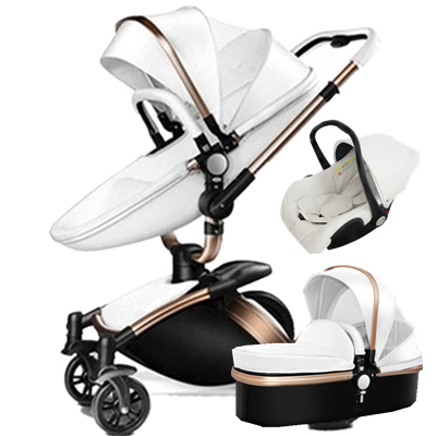 Luxury High Landscape Aulon Baby Stroller 3 In 1 Travel System Baby