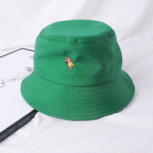 Creative Embroidery Bucket Hat Women Hip Hop Caps Gorros Rose Fishing Unisex Casual Flat Cotton Spring
