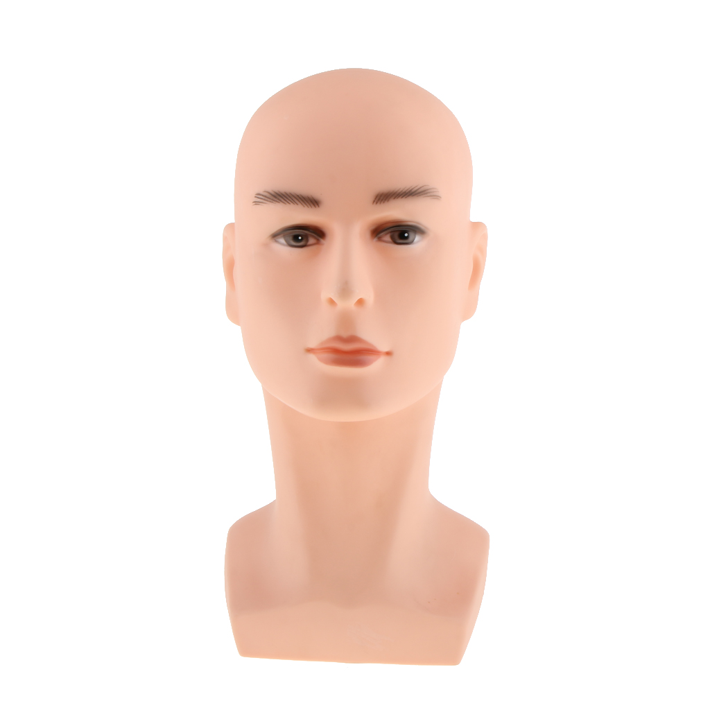 14 inches Tall Professional Male Mannequin Manikin Head Wigs Hat Cap Glasses Display Stand Holder Painting Model Pink Yellow new 2pcs female right left vivid foot mannequin jewerly display model art sketch