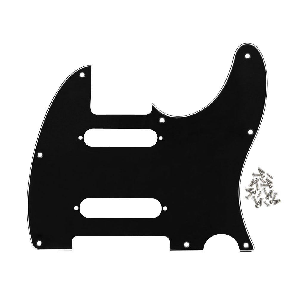 electric guitar pickguard scratch plate 3ply 8 holes for nashville tele guitar parts. Black Bedroom Furniture Sets. Home Design Ideas