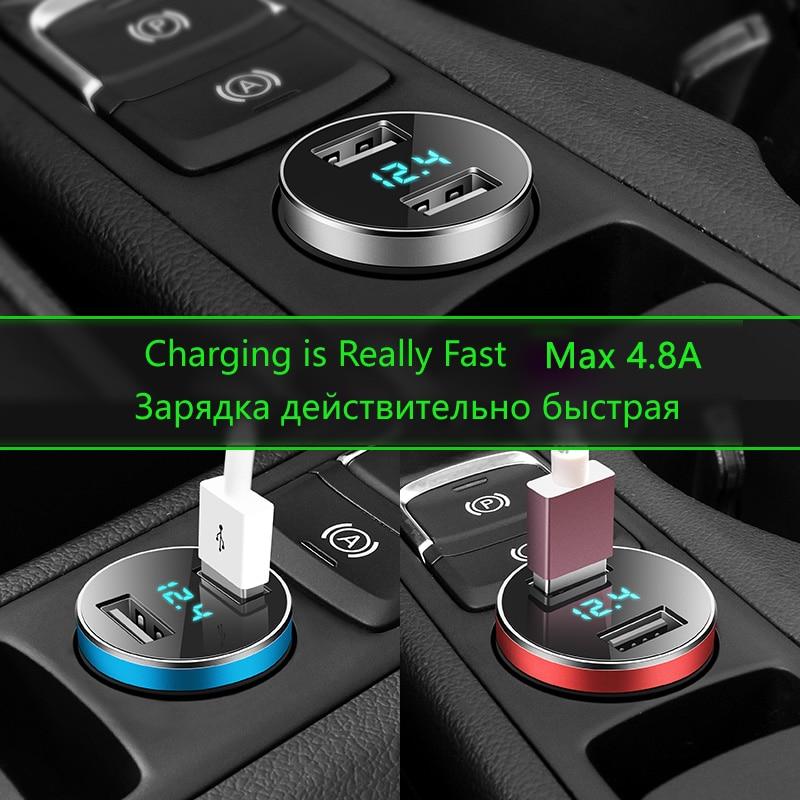 YO-HAPPY 12V 24V Puertos duales QC 3.0 USB Cargador r/ápido de Coche Encendedor de Cigarrillos Volt/ímetro LED Digital Adaptador de Corriente para tel/éfono m/óvil Tableta GPS