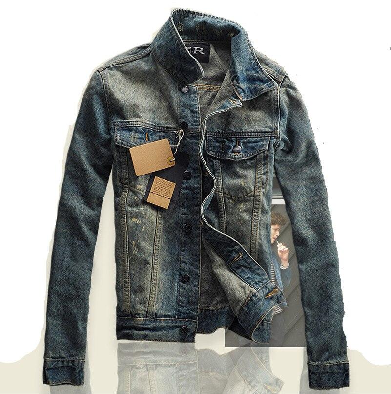 S-3XL Демисезонный Для мужчин Куртки и пальто брендовая одежда джинсовая куртка Модные Для мужчин s джинсовая куртка пиджаки Мужской Ковбой х...
