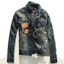 5aa73048f440 S-3XL Frühling Herbst Männer Jacke und Mäntel Marke Kleidung Denim Jacke  Art Und Weise Mens Jeans Jacke Outwear Männlichen Cowbo.