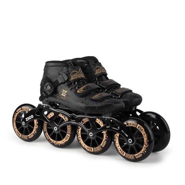 1591741e2 Tamanho EUR 30-44 4 Patins Inline Velocidade Competição de Skate De Fibra  De Carbono