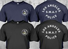 2019 Fashion New Swat Police Department Los Angeles Tv Series Security Investigation Double Side T-Shirt Unisex Tee