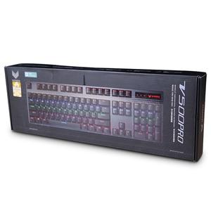 Image 5 - Poo o V500PRO 104key 기계식 키보드 USB 유선 게임용 키보드 (데스크탑 랩톱 컴퓨터 게이머 용 7 색 백라이트 포함)