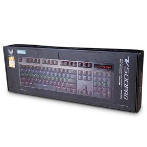 Image 5 - Rapoo V500PRO 104key Mechanische Tastatur USB Wired Gaming Tastatur mit 7 Farbe Hintergrundbeleuchtung für Desktop Laptop Computer Gamer