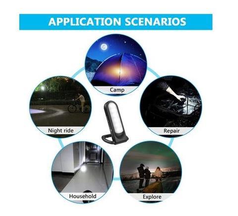 12 led multi funcional portatil solar lampada