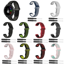 Soft Silicone Replacement Wrist Watch Band bracelet strap For Garmin Forerunner 220 230 235 630 620 735 S20 S5 S6