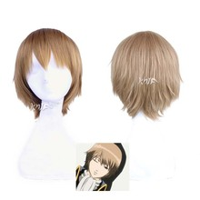 New arrival high quality hair accessories 28cm synthetic hair jewelry for Haruka Okita Sougo Cosplay Wig + Free Wig Cap
