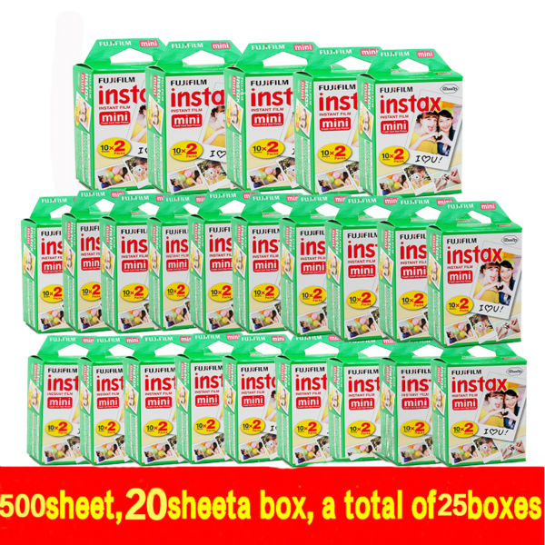 freeshipping 500 pcs Fujifilm Instax Mini 8 film (20X25 sheets) for Camera Instant mini 7s 25 50s 90 Photo Paper with retail box