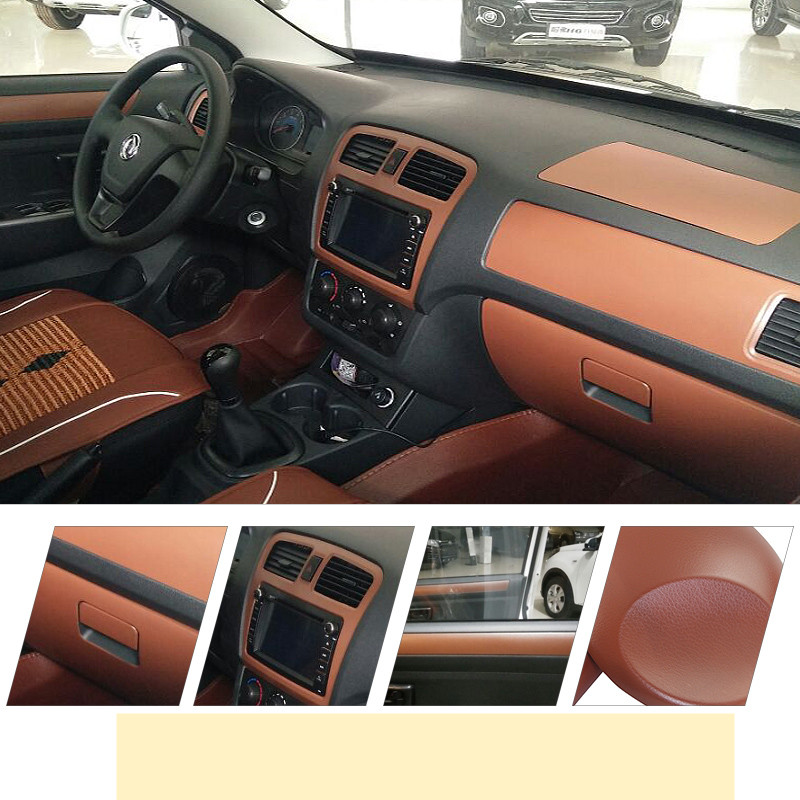 50cmx152cm Leather Grain Texture Vinyl Car Wrap Sticker Car Body Decal Film Sheet Self Adhesive sticker Waterproof Car Styling