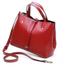 ФОТО new organizer cowhide women's handbag genuine leather bucket bag ladies casual shoulder messenger bags handbags famous brands