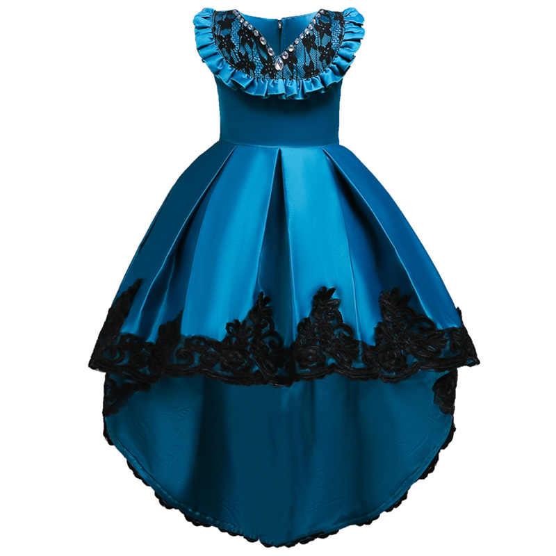 Детские платья для девочек, платье Детская одежда, костюм 2019 г. летнее свадебное платье с цветочным рисунком для девочек элегантное платье принцессы для девочек-подростков