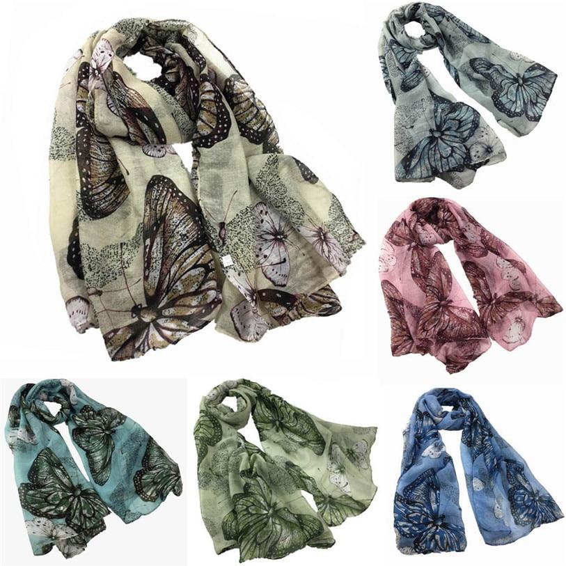 Women Printing Long Soft Paris Yarn   Scarf     Wrap   Shawl Stole Pashmina   Scarves   female Warm neckerchief lenco feminino foul No 9