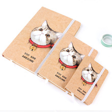 Hard Cover A6 Small Cute Cat Design Notebook Portable Notepa