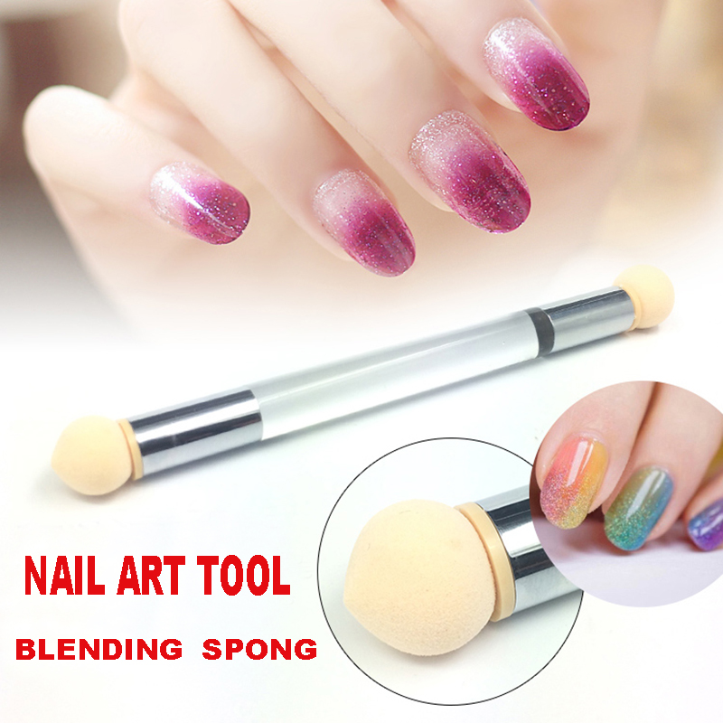 $10/3 items Double Ended Glitter Picker Acrylic Pen Brush Sponge Heads Nail Art Painting Gradient Manicure Polish Tools