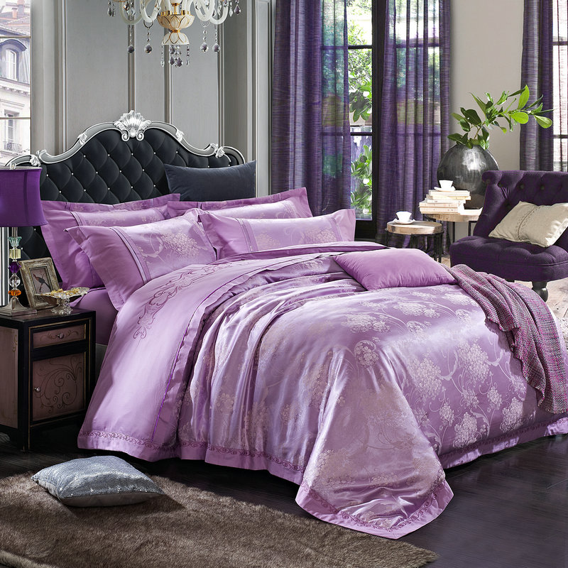 Aliexpress.com : Buy Luxury bedding set jacquard silk 4