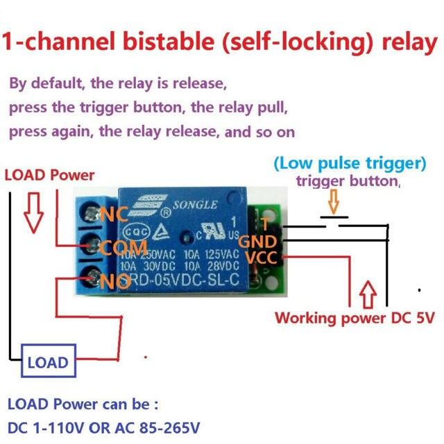 Io25a01 5 V Flip Flop Loquet Relais Module Bistable Auto