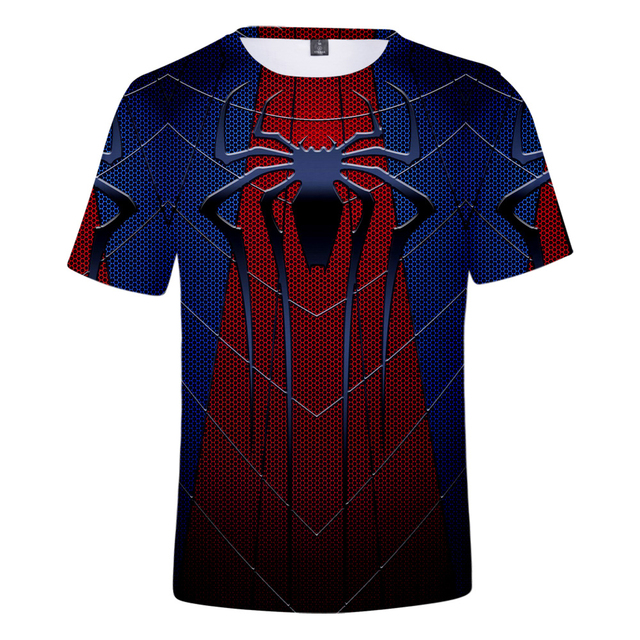 男性 3d スパイダーマンから遠ホーム Tシャツ 2019 Endgame メンズ Tシャツ夏原宿アニメシャツ領域トップス男カジュアル