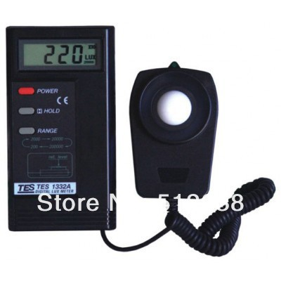 TES1332A Digital Lux light meter 0.01~200000 Lux brand new professional digital lux meter digital light meter lx1010b 100000 lux original retail package free shipping