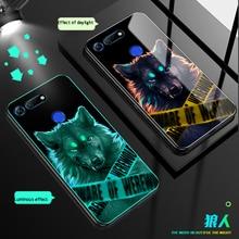 Luminous Glass Case For huawei Honor V20 10 Lite 8 Nova Back Cover Huawei 4 2 PLUS Cases