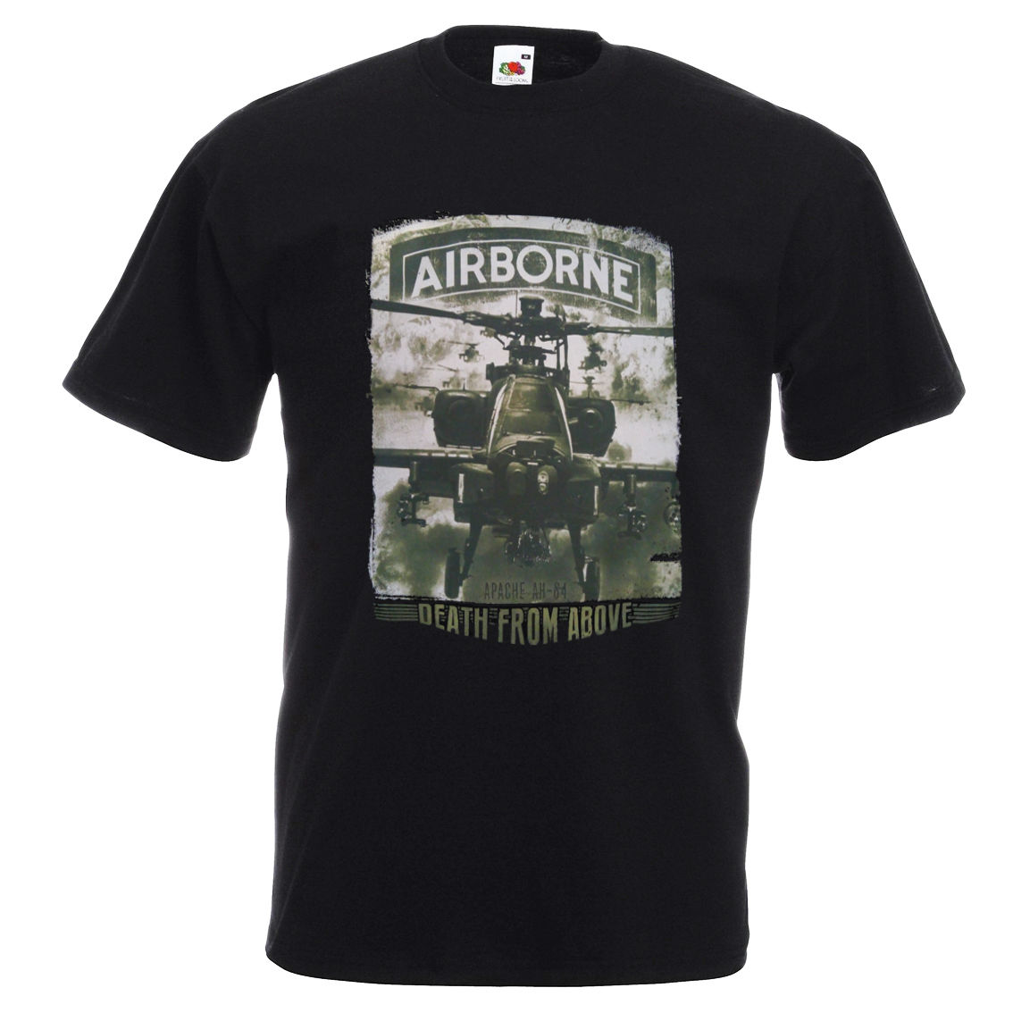 AIRBONE Apache AH-84 T Shirt - American Army US Aviation Helicopter, War Machine ...