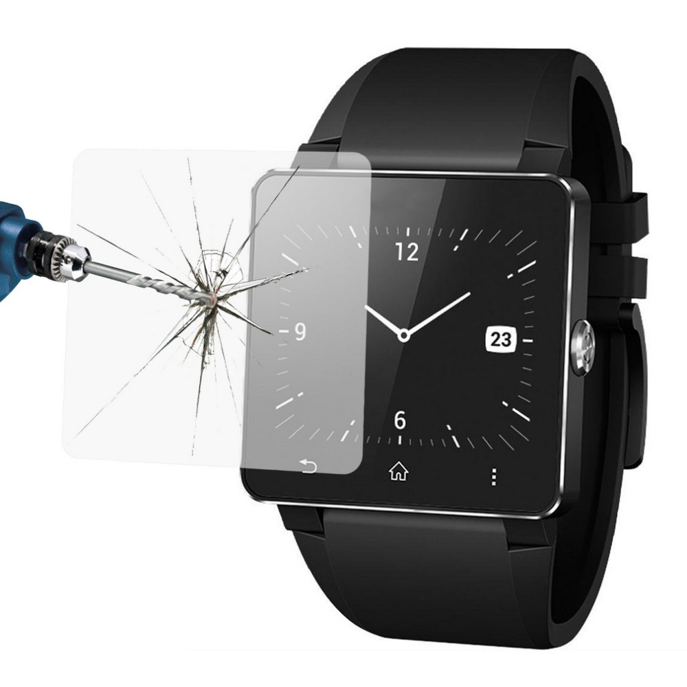 2016 Hot 1pcs 0 2mm Premium Tempered Glass Flim Screen Protector For Sony font b SmartWatch