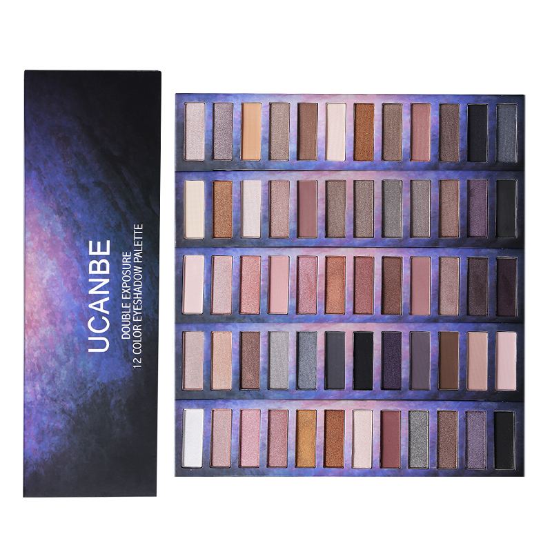 Big Sale UCANBE Brand Starry Sky Eyeshadow Palette Nude Makeup Pigment Matte Shimmer Shine Smoky Eye Shadow Make Up Kit