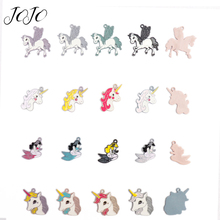 JOJO BOWS 5pcs DIY Craft Supplies Alloy Accessories Unicorn Mermaid Iron on Patch For Phone Case Sticker Handmade Necklace Decor полякова а в русский язык 4 класс тетрадь 1 занимательные задания