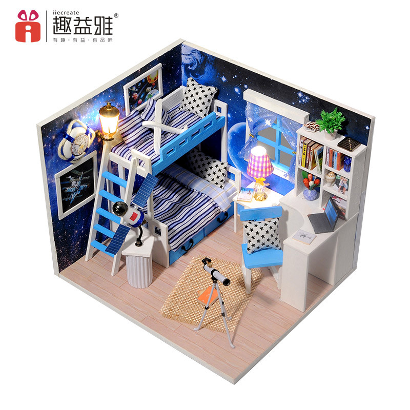 iiE CREATE DIY 3D Assembled Handmade Models Doll House with Furniture Suites Toys Display Props Creative Kids Birthday Gift