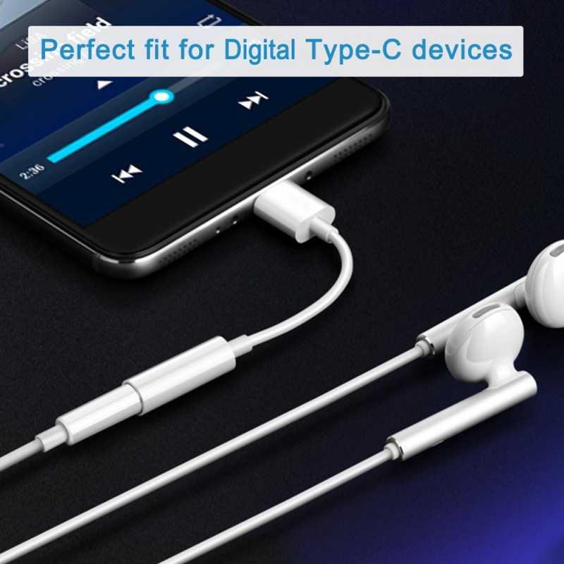 USB C męski na 3.5mm żeńskie słuchawki stereo Jack dźwięk cyfrowy 24-bitowy adapter hd na ipada Pro Huawei P20 Google Pixel 2/2XL 3/3XL